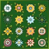 De vectorbloemen van de lente Stock Afbeeldingen
