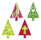 De vectorbomen van Kerstmis Royalty-vrije Stock Fotografie