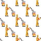 De vectorbrandbestrijder Fire Extinguisher van het beeldpatroon stock illustratie