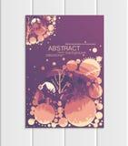 De vectorbrochure A5 of A4 de bomen boslandschap van formaat abstract cirkels ontwerpt elementen collectieve stijl Stock Afbeelding