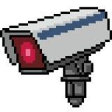 De vectorcamera van de pixelkunst royalty-vrije illustratie