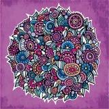 De vectorcirkel bloeit samenstelling. Uitstekende achtergrond. Royalty-vrije Stock Fotografie