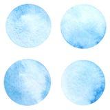 De vectorcirkel van de waterverfverf Royalty-vrije Stock Afbeeldingen