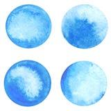 De vectorcirkel van de waterverfverf Stock Afbeeldingen