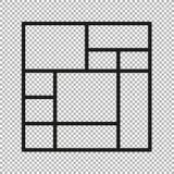 De vectorcollage van de kadersfoto stock foto