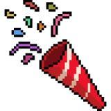 De vectorconfettien van de pixelkunst stock illustratie