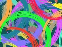 De vectordieachtergrond met een borstel wordt getrokken royalty-vrije illustratie
