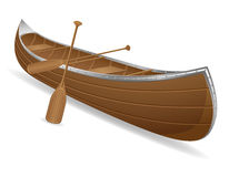 De vectorillustratie van de kano Stock Afbeeldingen