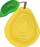 De vectordieillustratie van het perenfruit met lagen wordt verfraaid Stock Afbeelding