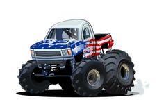 De vectordieVrachtwagen van het Beeldverhaalmonster op witte achtergrond wordt geïsoleerd vector illustratie