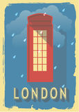 De vectordoos van de illustratietelefoon van Londen Stock Foto