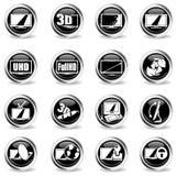 De vectoreigenschappen en de specificaties van TV Royalty-vrije Stock Afbeelding