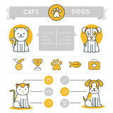 De vectorelementen, de pictogrammen en de kentekens van het infographicsontwerp Royalty-vrije Stock Afbeeldingen