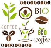 De vectorelementen van de koffie Stock Fotografie