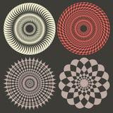 De vectorelementen van de optische illusie Royalty-vrije Stock Afbeeldingen
