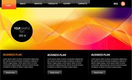 De VectorElementen van de website Stock Afbeeldingen