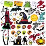 De vectorelementen van Halloween Royalty-vrije Stock Foto