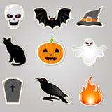 De VectorElementen van Halloween Stock Afbeelding