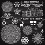 De vectorelementen van het Kerstmisontwerp Royalty-vrije Stock Fotografie