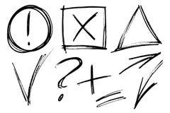De vectorelementen van het tellershand getrokken ontwerp - nota's Royalty-vrije Stock Afbeelding
