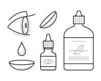 De vectorelementen van oogcontactlenzen royalty-vrije illustratie