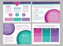 De vectoren van de bedrijfs marketing presentatiedia royalty-vrije illustratie