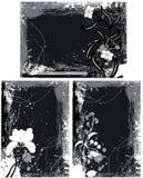 De Vectoren van Grungekaders Stock Foto's