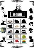 De vectoren van hoeden Royalty-vrije Stock Foto's