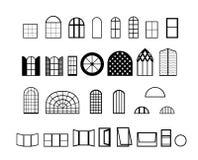 De vectoren van vensters Stock Afbeelding