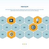De vectorenontwerp van het pictogramconcept Royalty-vrije Stock Afbeeldingen