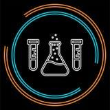 De vectorfles van het wetenschapslaboratorium - laboratoriumbuizen royalty-vrije illustratie