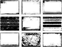 De vectorframes van Grunge Stock Fotografie