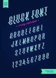 De vectorglitch moderne typografie van het stijlalfabet Gehelde doopvont kleurrijk voor partijaffiche Royalty-vrije Stock Afbeelding