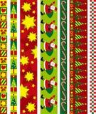 De vectorgrens van Kerstmis Stock Foto's