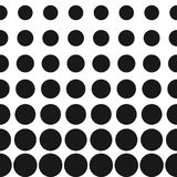 De vectorhalftint omcirkelt patroon Halftone puntenachtergrond Stock Fotografie