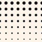 De vectorhalftint omcirkelt patroon Halftone puntenachtergrond Royalty-vrije Stock Fotografie