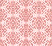 De vectorhand getrokken geometrische achtergrond van het gebieden Skandinavische naadloze patroon van rood verbond gebieden onder Stock Illustratie