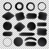 De vectorhand trekt geplaatste de borstelslagen van de waterverftextuur vector illustratie