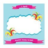 De vectorhoed en het lint van silhouet kleurrijke clowns Royalty-vrije Stock Foto's
