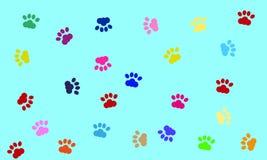 De vectorhond handtastelijk wordt achtergrond Royalty-vrije Stock Fotografie