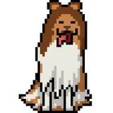 De vectorhond van de pixelkunst bont Royalty-vrije Stock Afbeeldingen