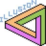 De vectorillusie van de pixelkunst stock illustratie