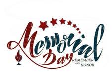 De vectorillustratie Gelukkige herdenkingsdag, eer en herinnert zich Hand Royalty-vrije Stock Afbeelding
