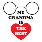 De vectorillustratie met de inschrijving Mijn oma is het beste Royalty-vrije Stock Afbeelding