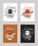 De vectorillustratie met motivationg inspirational citaat over liefde ramen, noedels Royalty-vrije Stock Foto's