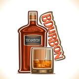 De vectorillustratie van alcohol drinkt Bourbon vector illustratie