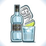 De vectorillustratie van alcohol drinkt Jenever vector illustratie