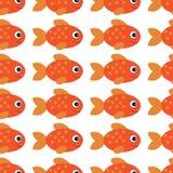 De vectorillustratie van aquariumvissen De kleurrijke vissen van het beeldverhaal vlakke aquarium voor uw ontwerp Het naadloze Pa royalty-vrije illustratie