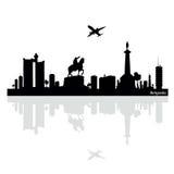 De vectorillustratie van Belgrado Stock Afbeeldingen