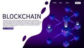 De vectorillustratie van de Blockchaintechnologie E royalty-vrije illustratie